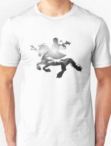 Khaleesi riding Silver Unisex T-Shirt