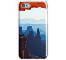 Washer Woman Arch as seen from beneath Mesa Arch iPhone Case/Skin