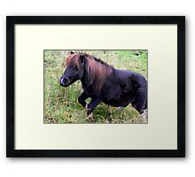 Stepping Up The Hill  Framed Print