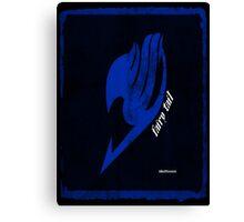 Fairy Tail blue with transparent shirt design Canvas Print