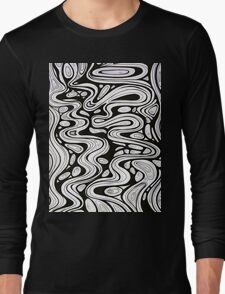 Tshirt - Trickle - black and white Long Sleeve T-Shirt