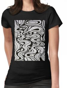 Tshirt - Trickle - black and white Womens Fitted T-Shirt