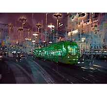 The Essence of Croatia - Zagreb Night Tram Photographic Print