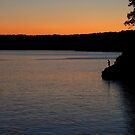 Fishing at Sunset by Virginia Shutters