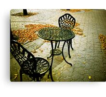 Cafe Patio for two 02 Canvas Print