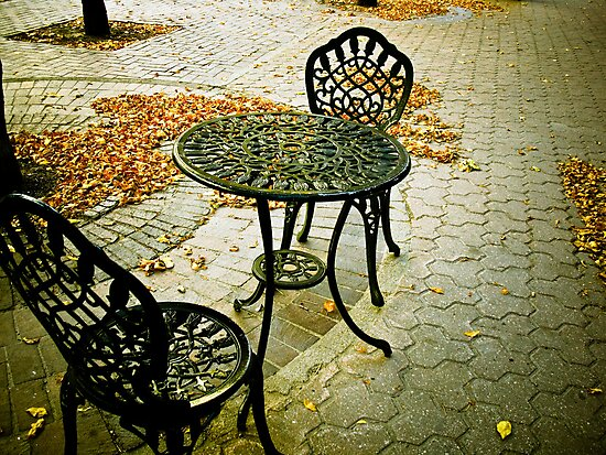 Cafe Patio for two 02 by mdkgraphics