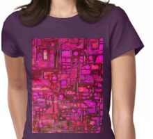 Tshirt - Hot Pink Maze Womens Fitted T-Shirt
