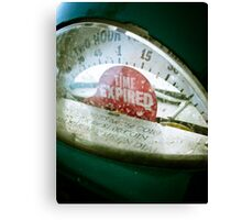 Retro Parking Meter 02 Canvas Print
