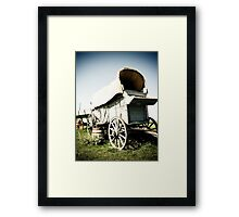 Old West Covered Wagon 01 Framed Print