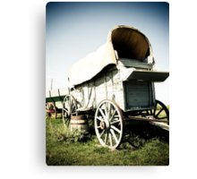 Old West Covered Wagon 01 Canvas Print