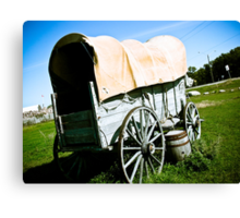 Old West Covered Wagon 02 Canvas Print