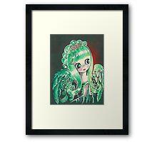 """""""Holly"""" ~ Holiday Angel I Framed Print"""