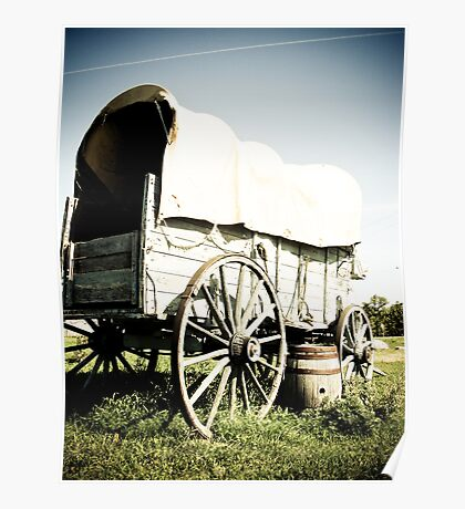 Old West Covered Wagon 04 Poster