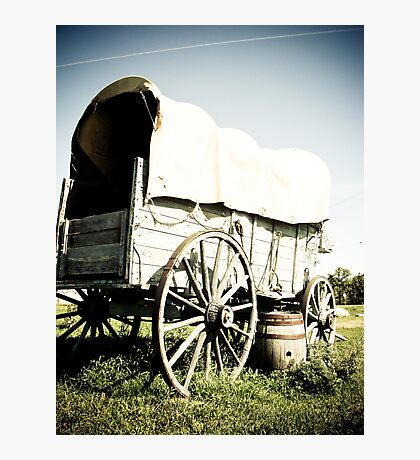 Old West Covered Wagon 04 Photographic Print