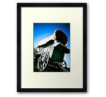Old West Covered Wagon 06 Framed Print