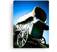 Old West Covered Wagon 06 Canvas Print