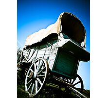 Old West Covered Wagon 06 Photographic Print