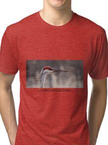Crane Head Tri-blend T-Shirt