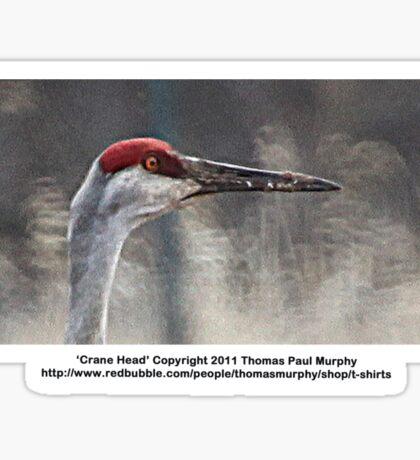 Crane Head Sticker