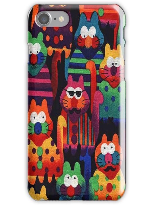 Delightful Cats iPhone 4 Case by purplesensation