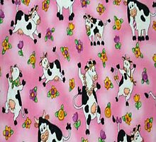 Pink Cows iPhone 4 Case by purplesensation