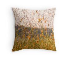 Grassy Field Throw Pillow