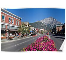 Canada. Canadian Rockies. Town of Banff. Poster