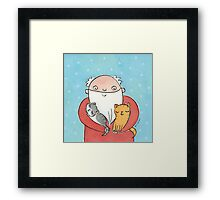 Santa Claus with Kitty Cats  Framed Print