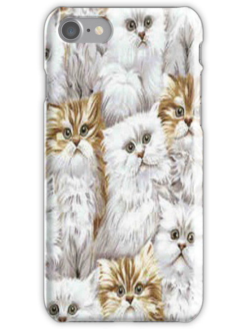 Fluffy Kittens iPhone 4 & 4s Case by purplesensation