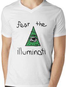 fear the illuminati Mens V-Neck T-Shirt