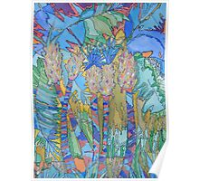 Abstract Palms  Poster
