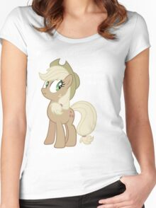 "Applejack lies ""You"" Version Women's Fitted Scoop T-Shirt"