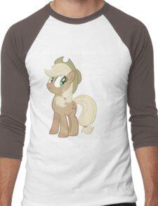 "Applejack lies ""You"" Version Men's Baseball ¾ T-Shirt"