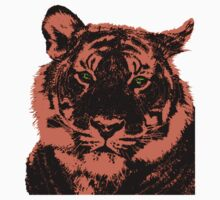 Green Eyed Tiger Kids Clothes