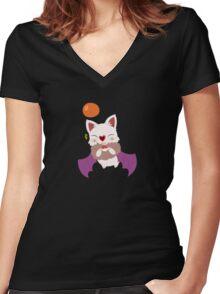 Swoobat x Moogle Women's Fitted V-Neck T-Shirt