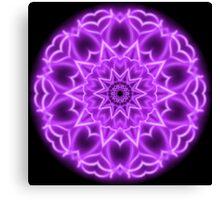 Pink Neon Kaleidoscope 01 Canvas Print