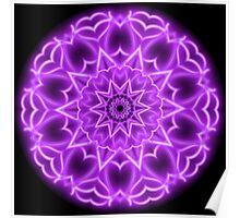 Pink Neon Kaleidoscope 01 Poster