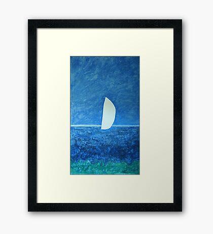 Ghost Sail Framed Print