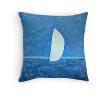 Ghost Sail Throw Pillow