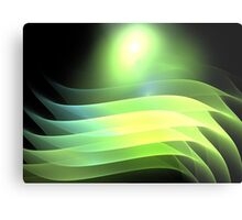 Citrus Lime Waves Metal Print