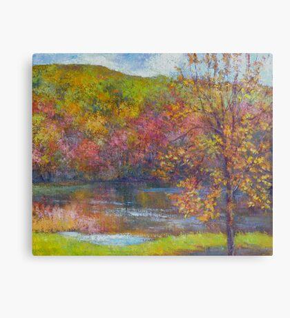 Mountain lake in fall Canvas Print
