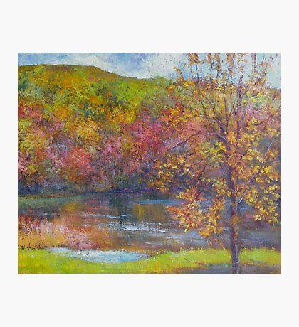 Mountain lake in fall Photographic Print