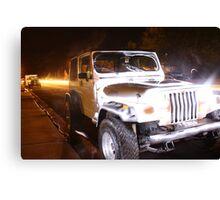 Jeep Light Canvas Print