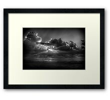 Sunrise at the beach: a study in Black and White Framed Print