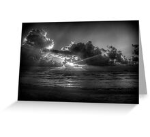 Sunrise at the beach: a study in Black and White Greeting Card