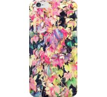 Pink yellow autumn fall winter leaves pattern  iPhone Case/Skin