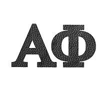 alpha phi leather by Lindsay Brandes