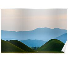 Burial Mounds and Mountians Poster