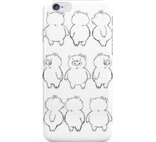 Dancing Piggy sketch iPhone Case/Skin