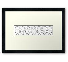 Dancing Piggy sketch Framed Print